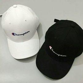 原宿白色帽子 夏天 學生 字母刺繡彎簷鴨舌帽棒球帽女潮