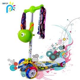 sopop索普四輪閃光兒童滑板車滑滑車2~3~4~5~6~7~8~9~10~11
