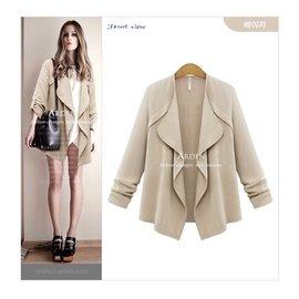 歐洲春款百搭外套 大方 純色外套 長袖夾克