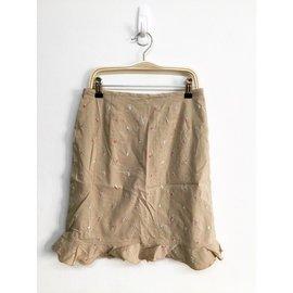 專櫃 Laicarfore 復古古著 碎花刺繡 魚尾裙 及膝裙 短裙 巴黎