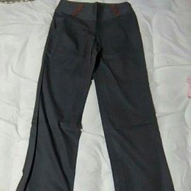 CHICA 綿質 鐵灰色 直筒長褲