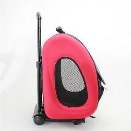 月影狗狗拉桿箱航空箱拉桿式狗狗透氣包旅行外出包二合一多 拉桿寵物箱萌寵出門 款D40369