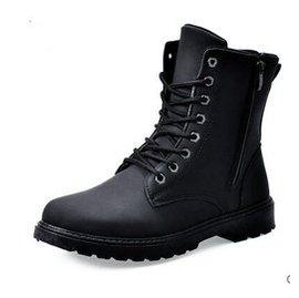 軍靴 工裝 男鞋潮男皮靴雪地休閒沙漠短靴高幫馬丁靴男靴