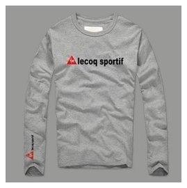 2016 法國公雞 Le Coq Sportif 萊卡棉 牌字母 長袖T恤男女 情侶打底衫