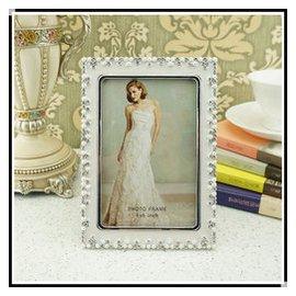 ~特~2130歐式珍珠金屬相框 客廳臥室 擺件 高檔婚慶擺臺