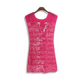 歐式貴族風格 珠寶首飾收納袋 掛袋公主小禮服首飾收納袋 首飾盒 玫瑰紅色