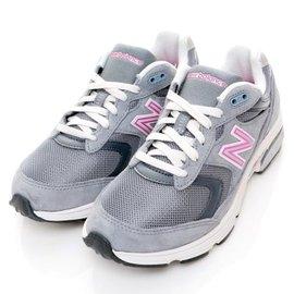 NEW BALANCE NB N字logo 透氣 輕量 慢跑鞋 健走 D楦頭 灰粉 女款