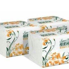 極度純柔 拭紙巾300抽x72包 箱 Super pure單抽式