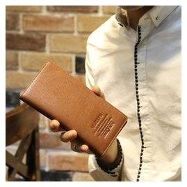 (SF) 多卡位長款男士錢包牛皮男式錢夾拉鏈真皮學生正品皮夾卡包潮
