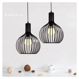 北歐型吊燈^(未含燈泡^) 小鳥籠型吊燈 單顆3顆組 賣^~單顆450元3顆1250元