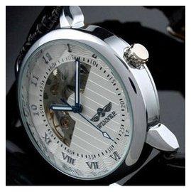 JF  你沒看錯,機械錶只賣699^^陀飛輪豪華 金色 銀色男士商務鏤空機械錶腕錶
