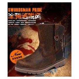 Mi 【重機騎士 】兩雙大 5500馬丁靴男士英倫 真皮軍靴中筒靴子男靴潮流復古男鞋工裝靴