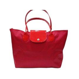 ~菲歐娜~ 6866~^( 拍品^)尼龍旅行袋 跑單幫袋 袋紅色配紅背帶
