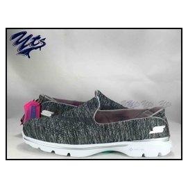 SKECHERS GOWALK 3 女鞋 灰色 编织 无缝线 慢跑鞋 健走 运动 米奇 玩具 13984GRY YTS