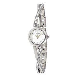 【錶飾精品】DKNY手錶 典雅驚豔時尚 白面 不鏽鋼晶鑽交叉鍊帶女錶 NY2173 全新原廠正品 生日 情人節禮物