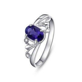 夢金華 925純銀 天然紫水晶戒指 指環 首飾 飾品 珠寶  女友 1~12