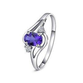 夢金華 925純銀 天然紫水晶戒指 指環 首飾 飾品 珠寶  女友 1~29