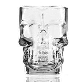 超大 吹制骷髏啤把杯 透明個水杯帶把玻璃杯子