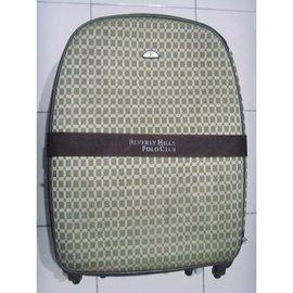 BEVERLY HILLS POLO CLUB 卡其格紋 大型 行李箱