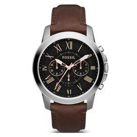 FOSSILFS4813 極致品味 羅馬時標三眼計時腕錶 皮帶