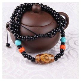 佛教天珠 天然瑪瑙 原石 手鏈 手串 項鏈天眼純朱砂開光密宗