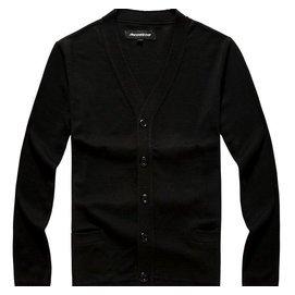 外貿針織衫男士開衫秋鼕毛衣厚長袖外套寬松V領潮加肥加大碼包郵