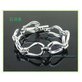 韓系 簡約   無限 情侶款對鍊 白金 手鍊 手環 周邊 ^~JYJ 東方神起 金在中 朴