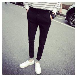 愛客朗 男士牛仔褲 修身水洗牛仔長褲青少年小腳牛仔褲