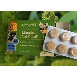 台紐友好-Airborne Honey艾爾邦 麥蘆卡蜂蜜 花粉 蜂膠喉糖16粒 紐西蘭保健
