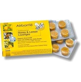 台紐友好-Airborne Honey艾爾邦 麥蘆卡蜂蜜喉糖16粒 檸檬口味  紐西蘭保健