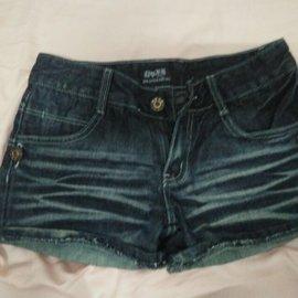 美國圖騰牛仔短褲