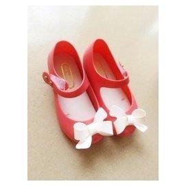 小七同款 巴西mini melissa兒童蝴蝶結香香搭扣軟墊果凍鞋