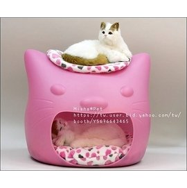 Misha Kitty Meow 貓臉 寵物窩 狗窩狗床 貓頭 可愛  寵物貓狗床房窩墊