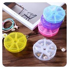 韓國便攜透明塑料小飾品C228耳釘首飾項鏈分格多格收納盒耳環盒子