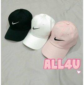 ^( 實拍^)三色 刺繡棒球帽 Nike打勾標誌 學生情侶帽 潮流帽