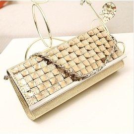 手拿包鑲鑽女包 錢包水晶水鑽手包晚宴會包單肩鏈條小包包