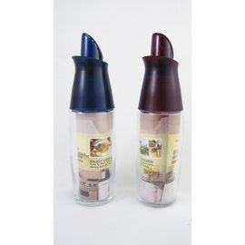 【翔心坊】自動開蓋廚房玻璃油瓶300ML 翻蓋油壺 防漏液體調味瓶、醋瓶、醬油瓶