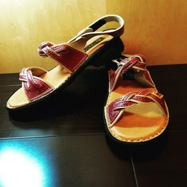 MIT 縫線氣墊涼鞋