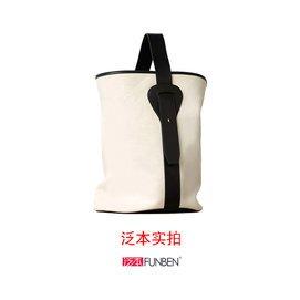 阿希哥vcruan同款包阿爆A~Bow同款包白色帆布 黑白水桶包