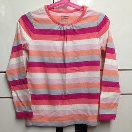 # 正品 GAP 彩色條紋上衣 5T 女童長袖棉質上衣 休間風 ~仙貝寶寶