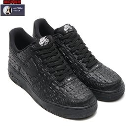 NIKE AIR FORCE 1 LV8 鱷魚皮革籃球鞋^(黑^).718152~007.