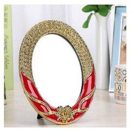 單面鏡子 大號臺式超高清結婚化妝鏡可折疊隨身歐式公主梳妝鏡子Eb9670~小美日記~