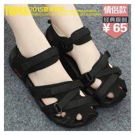 情侶鞋韓國原宿港風包頭越南沙灘鞋  平底學生男女涼鞋