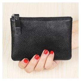 牛皮男女迷你零錢包真皮拉鏈硬幣包短款小錢包手包鑰匙包駕駛卡包