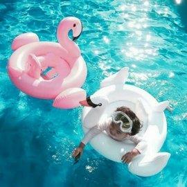 寶寶游泳圈1~3歲 兒童白天鵝火烈鳥游泳圈 加厚腋下圈小孩嬰兒坐圈