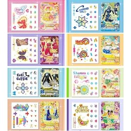 ★Aikatsu☆ #x1f38a 偶像學園 gacha周邊 轉印紋身品牌貼紙 贈PV迷你
