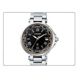 【爱妳心不变】XC 电波时计时尚鍊带腕表-黑色 # EC1010-57X