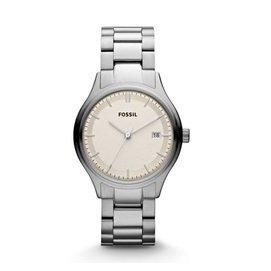 【爱妳心不变】美国直邮 化石 ES3160 银色大表盘 不锈钢表带 女表