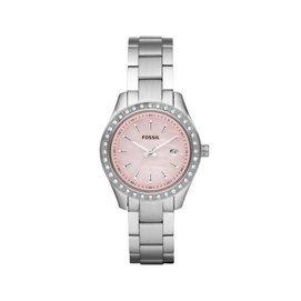 【爱妳心不变】美国直邮  ES2999 水钻表圈粉色表盘 不锈钢表带 女