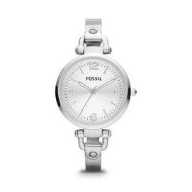 【爱妳心不变】现货 正品 ES3083化石 不锈钢表带圆型女表石英表